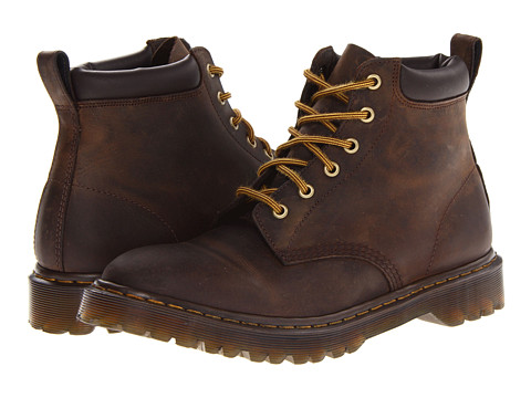 Dr. Martens - 939 6-Eye Padded Collar Boot (Gaucho Rugged Crazy Horse) Men