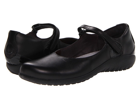 Naot Footwear - Reka (Black Raven Leather/Black Crinkle Patent Leather) Women's Maryjane Shoes