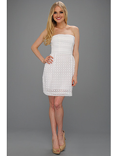 SALE! $44.99 - Save $130 on Laundry by Shelli Segal Strapless Eyelet Dress (Optic White) Apparel - 74.29% OFF $175.00