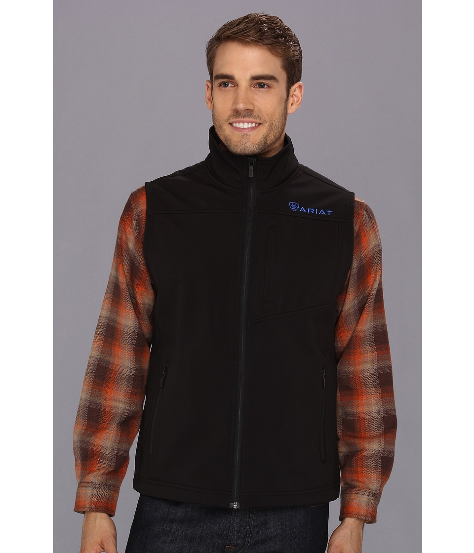 Ariat - Vernon Softshell Vest (Black) Men's Vest