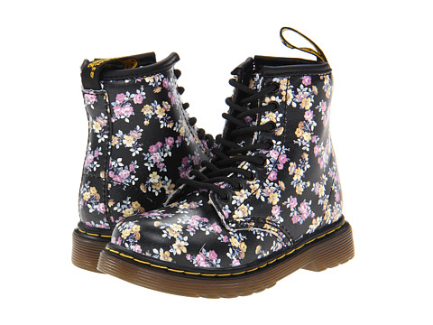 Dr. Martens Kid's Collection - Brooklee 8-Eye Lace Boot (Toddler) (Black Mini Tydee) Girls Shoes