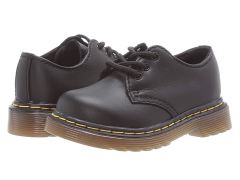 Dr. Martens Kid's Collection - Colby Lace Shoe (Toddler) (Black Softy T) Kids Shoes