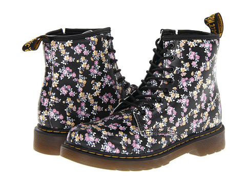 Dr. Martens Kid's Collection - Delaney Lace Boot (Little Kid/Big Kid) (Black Mini Tydee) Girls Shoes