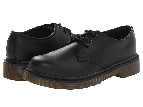 Dr. Martens Kid's Collection - Everley Lace Shoe (Little Kid/Big Kid) (Black Softy T) Kids Shoes