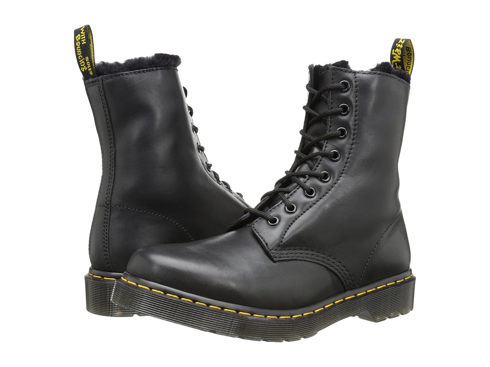 Dr. Martens - Serena 8 Eye Boot (Black Cartegena) Women's Lace-up Boots