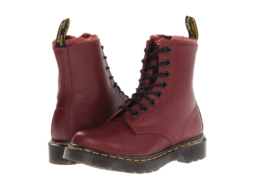 Dr. Martens - Serena 8 Eye Boot (Cherry Red Cartegena) Women's Lace-up Boots