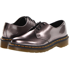 Dr. Martens 1461 3-Eye Shoe (Pewter Spectra Patent) Women's Lace up casual Shoes