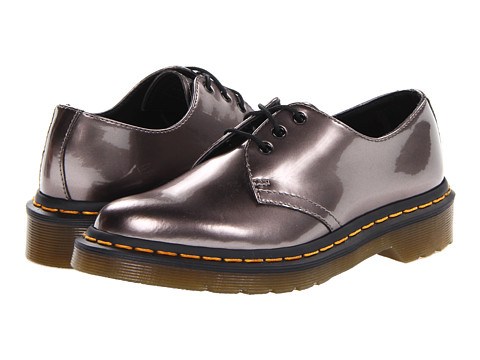 Dr. Martens - 1461 3-Eye Shoe (Pewter Spectra Patent) Women's Lace up casual Shoes