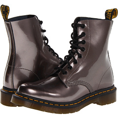 Dr. Martens Pascal 8-Eye Boot W (Pewter Spectra Patent) Women's Lace-up Boots