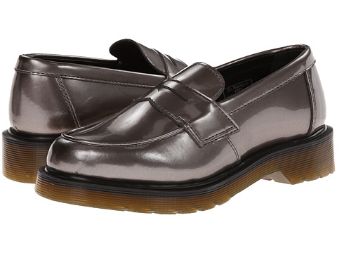 Dr. Martens Abby Penny Loafer (Pewter Spectra Patent) Women's Slip-on Dress Shoes