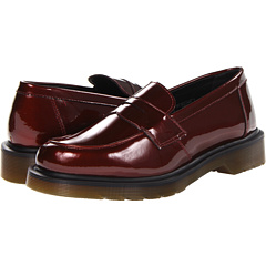 Dr. Martens Abby Penny Loafer (Cherry Red Spectra Patent) Women's Slip-on Dress Shoes