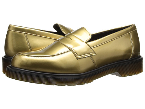 Dr. Martens Abby Penny Loafer (Gold Spectra Patent) Women's Slip-on Dress Shoes
