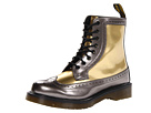 Dr. Martens - Harrie Brogue Boot (Pewter/Gold Spectra Patent) - Footwear