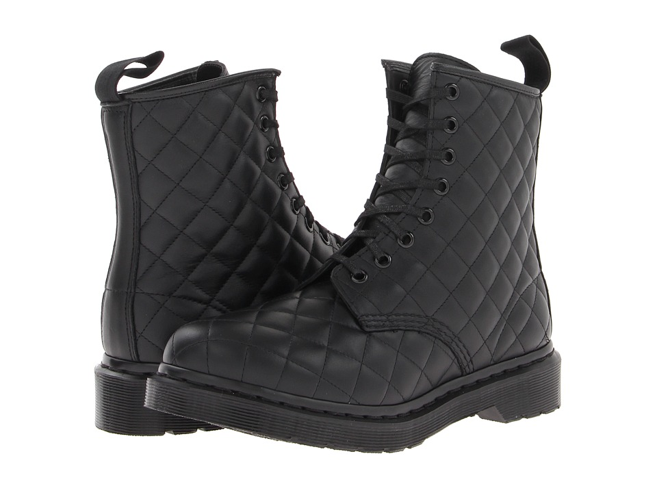 Dr. Martens - Coralie Quilted 8-Eye Boot (Black Danio) Women's Lace-up Boots