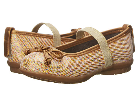 Hush Puppies Kids - Flowerhill (Toddler/Youth) (Gold Glitter) Girls Shoes
