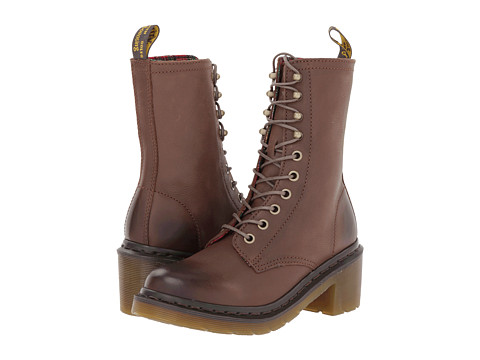 Dr. Martens - Casey 6-Eye 4-Tie Boot (Dark Brown Darkened Mirage) Women's Lace-up Boots