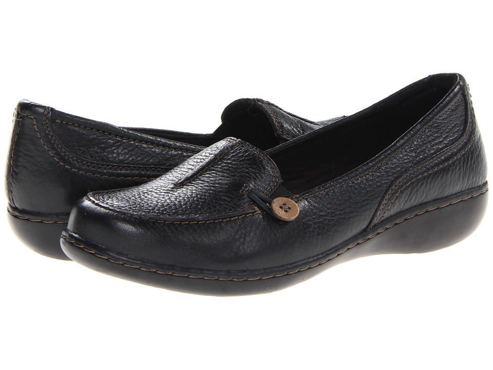 Clarks - Ashland Scurry (Black Leather) Women's Shoes