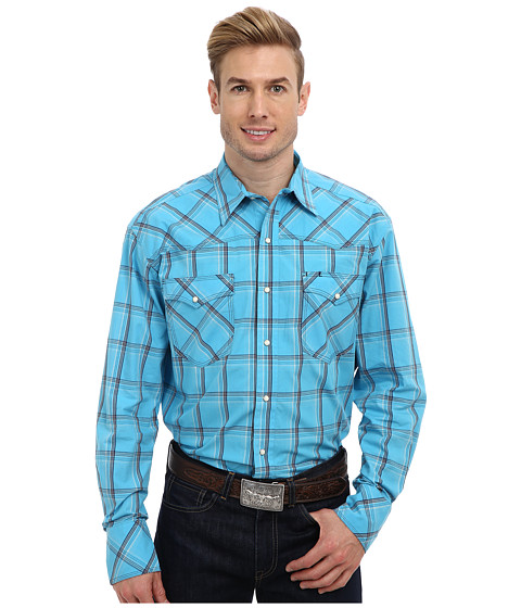 Roper - 8755 Mossy Plaid (Blue) Men