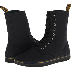 Dr. Martens Stratford 9 Eye Fold Down Boot (Black Canvas) Footwear