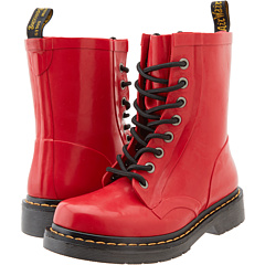 Dr. Martens Drench 8-Eye Boot (Red Patent Vulcanised Rubber) Women's Lace-up Boots