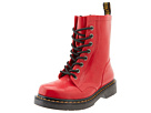 Dr. Martens - Drench 8-Eye Boot (Red Patent Vulcanised Rubber) - Footwear