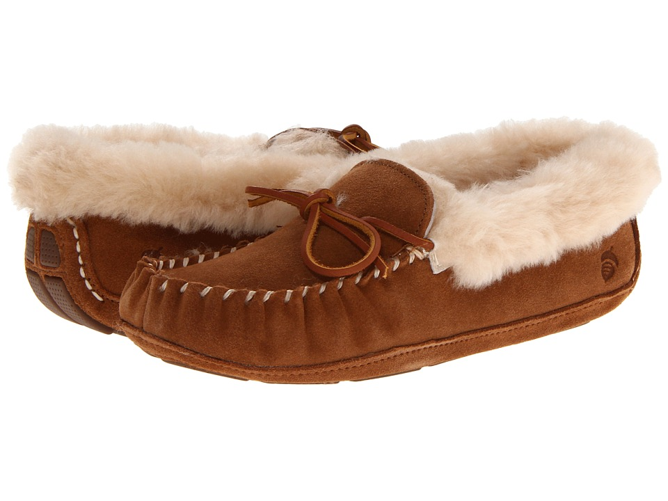 Acorn - Sheepskin Moxie Moc (Chestnut) Women's Shoes