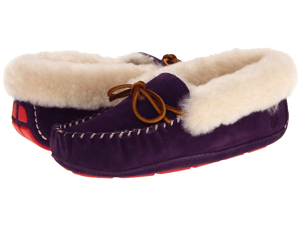 Acorn - Sheepskin Moxie Moc (Violet) Women's Shoes