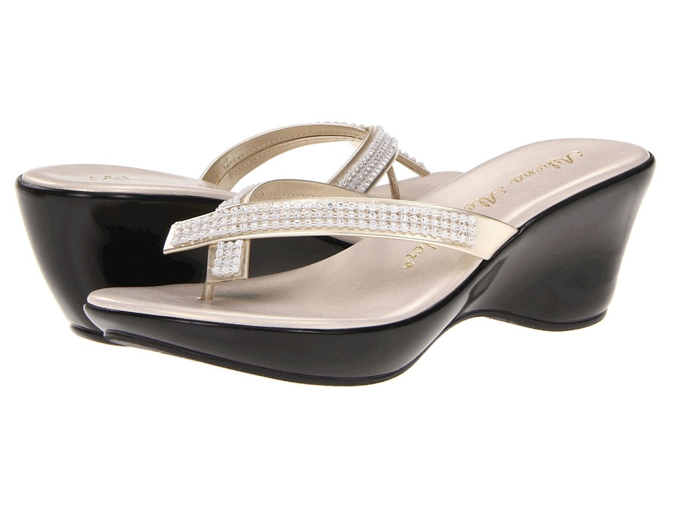 Athena Alexander - Roxi (Champagne) Women's Wedge Shoes