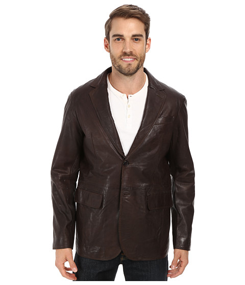 Stetson - Smooth Leather Blazer (Brown) Men's Jacket