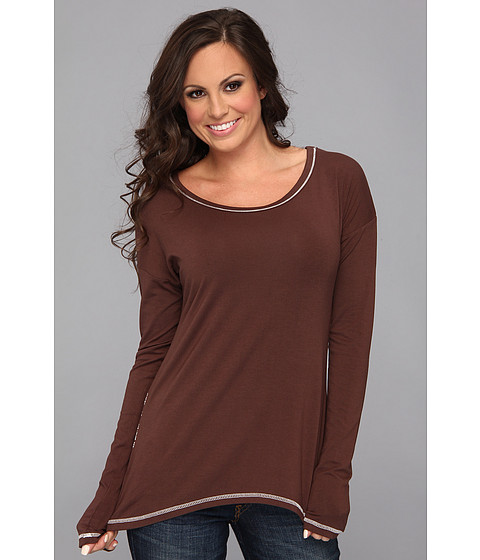 Stetson - 8835 L/S Shirt W/Screen Print (Brown) Women