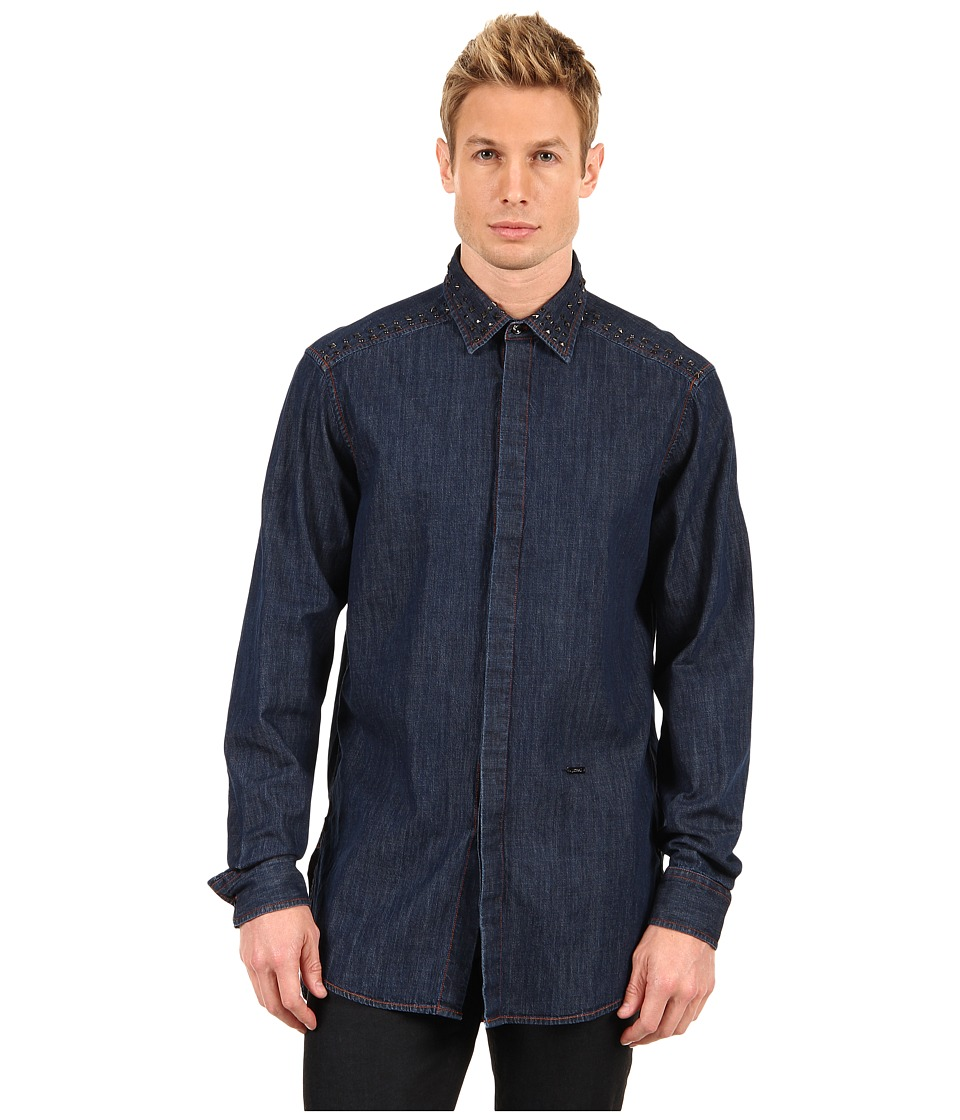 Just Cavalli - Denim Shirt with Studs (Denim) Men