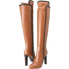 Roberto Cavalli Calf Leather Boot (Cognac Nero) Footwear