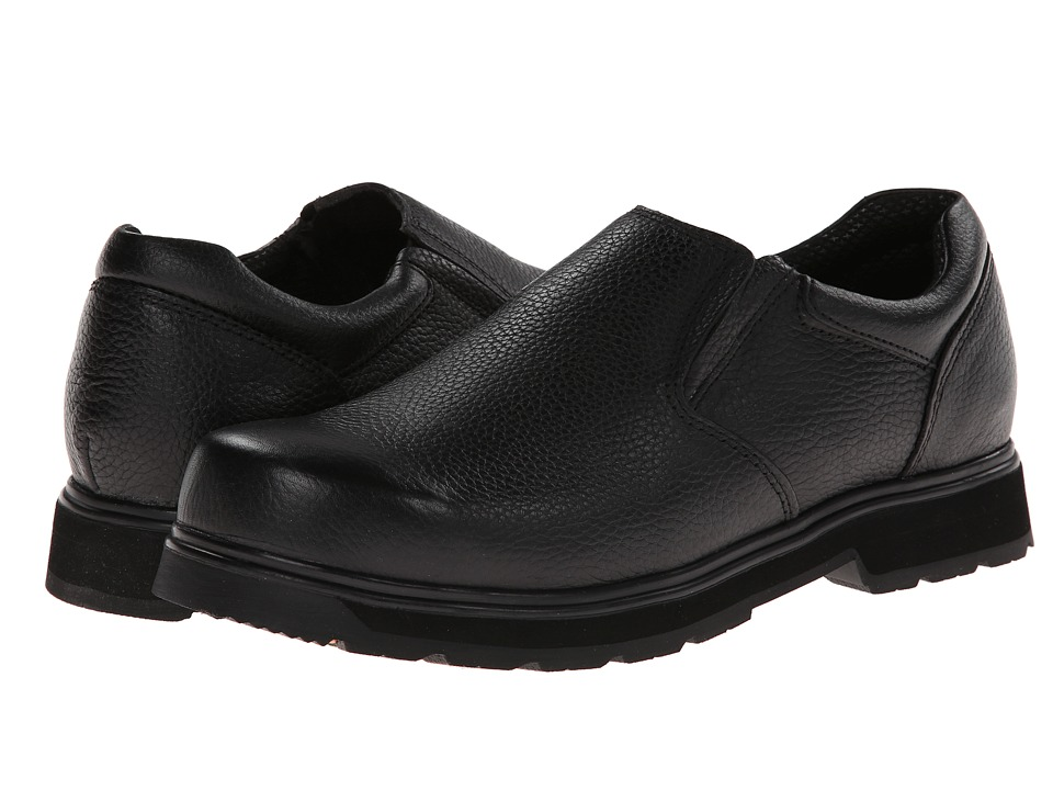 Dr. Scholl's - Winder (Black Luxury Leather) Men's Slip on Shoes