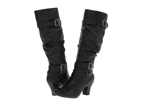 Hush Puppies - Lonna 16BT (Black PU) Women's Boots
