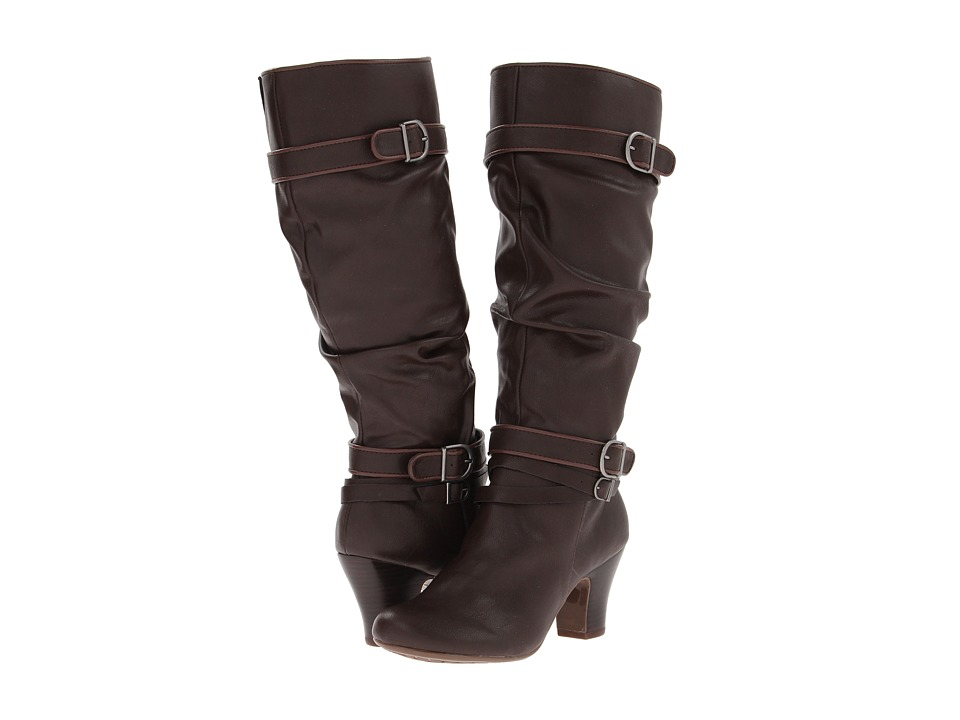 Hush Puppies - Lonna 16BT (Dark Brown PU) Women's Boots