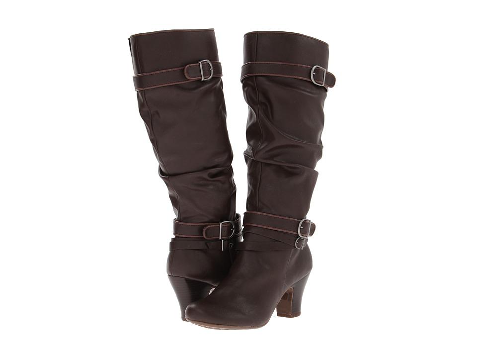 Hush Puppies - Lonna 16BT (Dark Brown PU) Women's Boots plus size,  plus size fashion plus size appare