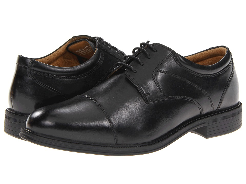 Florsheim - Portfolio Cap Ox (Black) Men's Lace Up Cap Toe Shoes