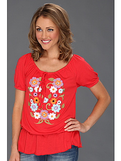 SALE! $16.99 - Save $27 on Roper 8686 Poly Rayon Jersey Peasant Top (Red) Apparel - 61.38% OFF $43.99