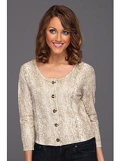 SALE! $44.99 - Save $45 on Calvin Klein Printed Grommet Shrug (LTE Soft White Multi) Apparel - 49.73% OFF $89.50