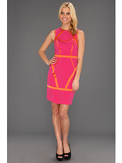 SALE! $86.99 - Save $258 on Nicole Miller Heavy Stretch CDC Sleeveless Dress (Scarlett Pink) Apparel - 74.79% OFF $345.00