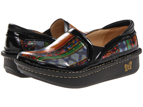 Alegria - Debra Professional (Blue Mural) Women's Slip on Shoes