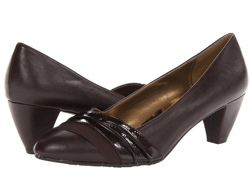 Soft Style - Danette (Dark Brown) Women's 1-2 inch heel Shoes