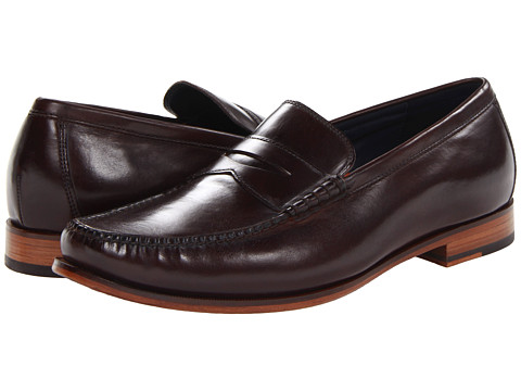 Cole Haan - Hudson Sq Penny (Dark Brown) Men's Slip-on Dress Shoes