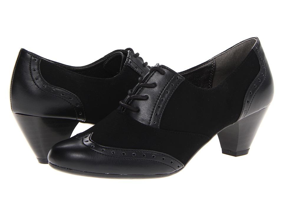 Soft Style - Georgette (Black Lamy) Women's 1-2 inch heel Shoes