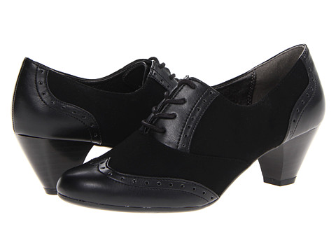 Soft Style - Georgette (Black Lamy) Women's 1-2 inch heel Shoes
