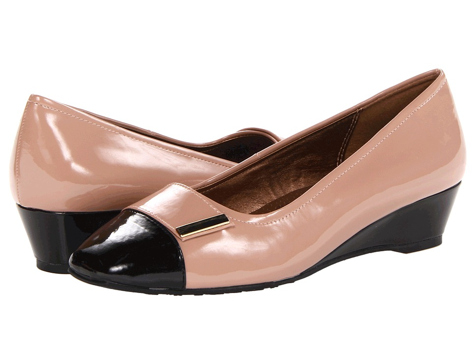 Soft Style - Shelby (Nude Patent) Women's Wedge Shoes