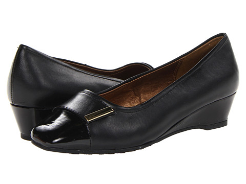 Soft Style - Shelby (Black Vitello) Women's Wedge Shoes