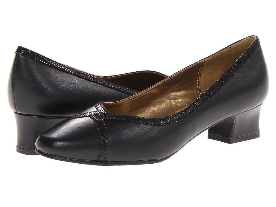 Soft Style - Lanie (Black Lizard) Women's 1-2 inch heel Shoes