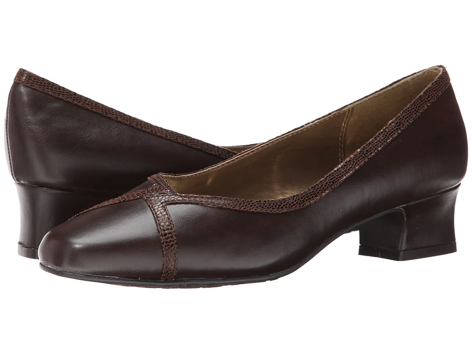 Soft Style - Lanie (Dark Brown) Women's 1-2 inch heel Shoes plus size,  plus size fashion plus size appare