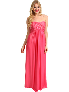SALE! $86.99 - Save $258 on Laundry by Shelli Segal CrissCross Shimmer Chiffon Dress (Shell Pink) Apparel - 74.79% OFF $345.00